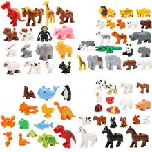 3pcs/set Duplo Original Classic Animal Zoo Big Building Blocks baby toys children lepin building bricks kids Gift Brinquedos - YUANMBM Store store