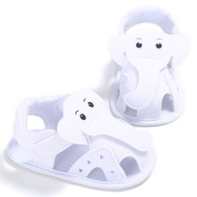 H28 Elephant Pattern Hollow Baby Boy Casual Prewalkers Soft Sole Summer Shoes 0-18 M New