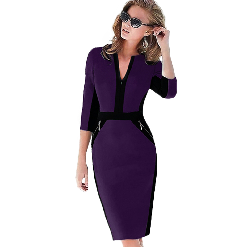 Plus Size Elegant Bodycon Pencil dress 26