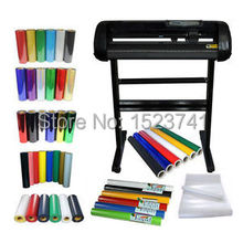 24''Cutting Plotter and PU Vinyl Sign Vinyl Car Sticker Heating Transfer KIT