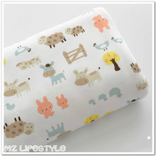 Baby cotton knitting Jersey fabric  printed cartoon baby clothing making cotton fabric for DIY baby Product 50*170cm