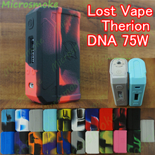 1pc Silicone Case Lost Vape Skar Therion DNA75 SKIN 133 133W DNA Sleeve Cover thicker sticker protector mod decal