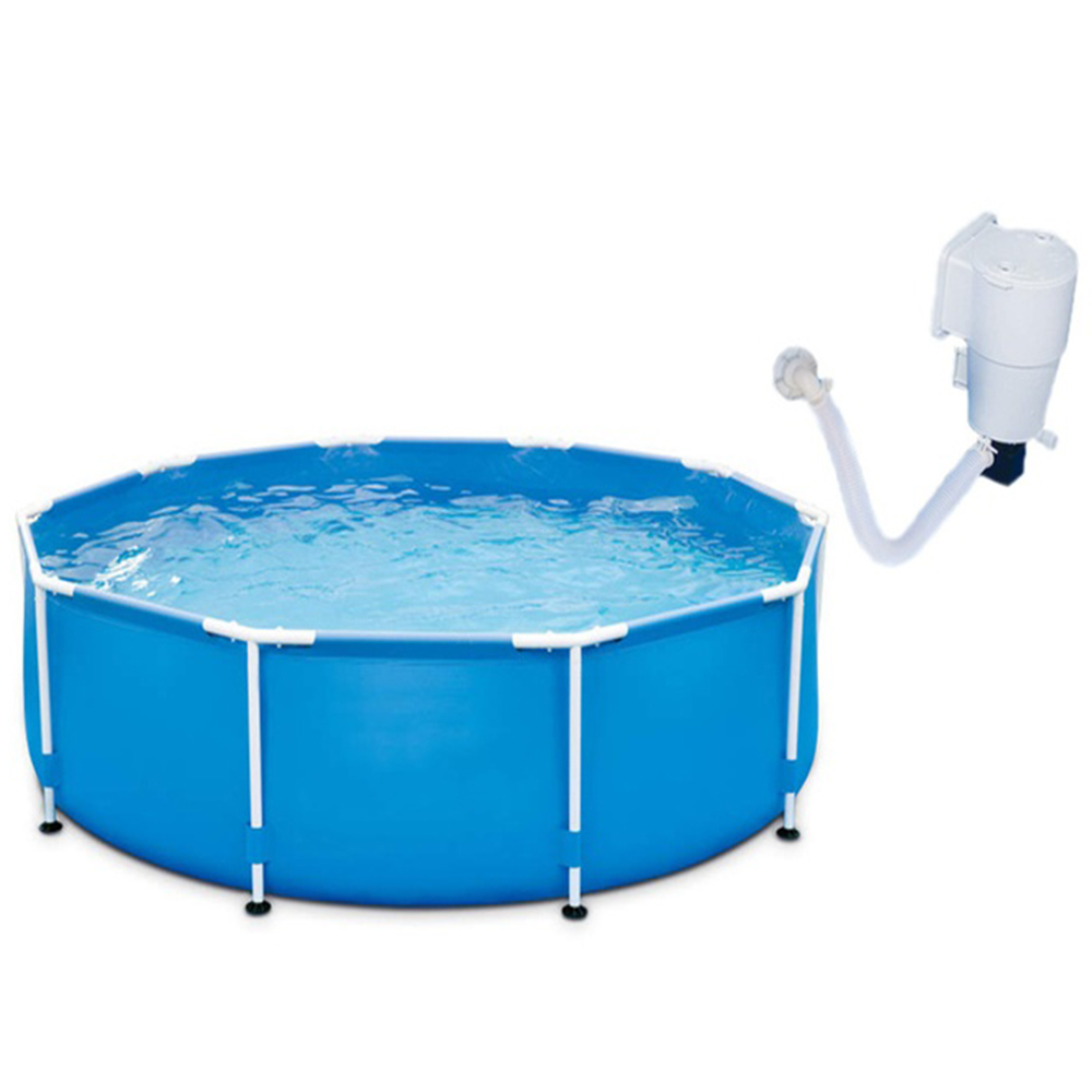 1,100 Gallons of Water Capacity Swimming Pool With Filter Pump Holds Up (2)