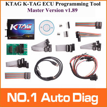 Free Shipping New Design Professional auto ECU programmer KTAG K-TAG ECU Programming Tool master version v1.89 , Jtag compatible