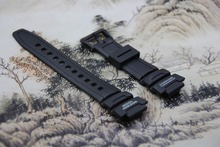 ON SALE Replacement Watchband black silicone rubber bracelet for Casio SGW-500h watches accessories(China)