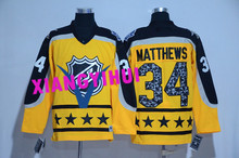 Free shipping 2017 High Quality New Style Alles hot starly Ice Hockey Jerseys MATTHEWS #34