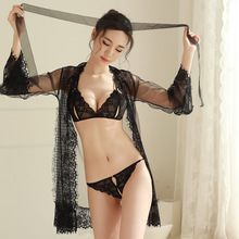 Buy Good Quality See Sexy Lingerie Hot Lace Mesh Nightgown langerie Sexy Underwear Erotic Lenceria Sexy Costumes Sleepwear