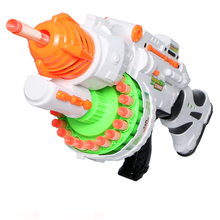 4 color new Electric Toys Gun  Toy Guns Soft Bullet Big Gun Launchers  Outdoor Toys Kids Children's Birthday Gift for boy