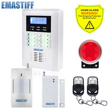 Free Shipping!99 wireless zone and 2 wired Quad-Band LCD home security PSTN GSM door sensor alarm system 850/900/1800/1900MHZ