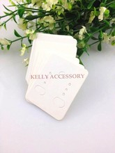 500pcs/lot 3.8x4.8cm White Paper Earring Card Cute Jewelry Ear Studs Display Cards Rectangle Shape Jewelry Tag Label