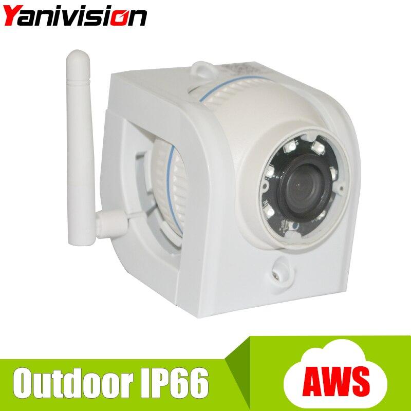 Wifi Camera Outdoor 720P HD AWS Cloud Storage P2P 15m IR Night Vision 1.0MP Waterproof Home Alarm CCTV Wireless Mini IP Camera<br>