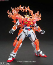 Bandai HGBF 1/144 028 Tri-Burning Gundam build fighter try hobby scale model building toy kids