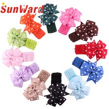 2016 Flower Dot  Headbands girl hair accessories headband cute hair band newborn floral headband H22 Drop Shipping