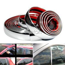 Car Stickers Chrome Decor Strip For Peugeot 307 206 308 407 207 2008 3008 508 406 208 Buick Fiat 500 Punto Stilo Accessories(China)