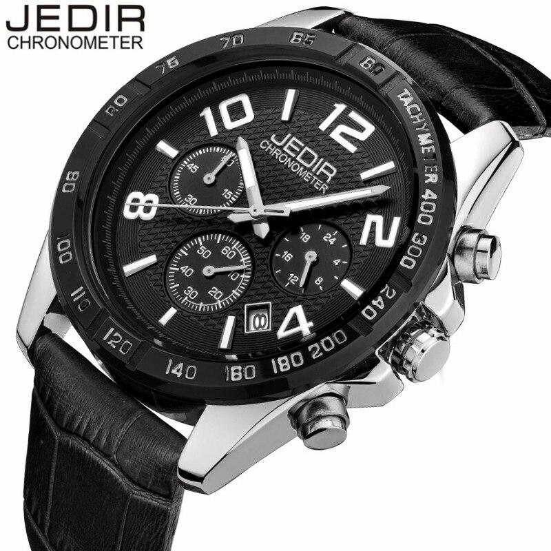 Mens Watches Top Brand Luxury JEDIR Quartz Watch Chronograph Luminous  Clock Men Military Sport Wristwatch relogio masculino<br><br>Aliexpress
