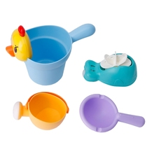 4Pcs Baby Kids Bath Beach Toy Shampoo Shower Bathing Cup Spoon Water Scoop Gift W30