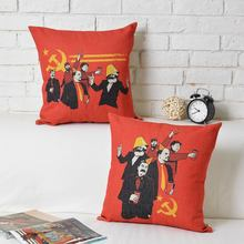 Funny Sickle Axe Lenin Stalin Castro Marx Mao Communism Pillow Elegant Art Pillow Massager Neck Euro Pillows Home Decor Gift
