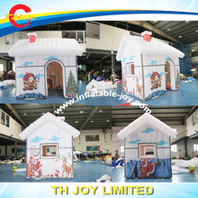 Free shipping santa grotto for Christmas decoration / inflatable Santa house / full printing inflatable Christmas santa house