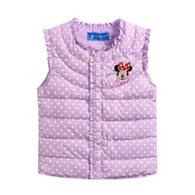Retail Baby Children Autumn Winter Fashion Cartoon Mouse Vest Kids Sports Leisure Polka Dot Comfortable Warm Waistcoat Hot sale(China)