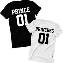 Prince Princess 01 Hipster Couples T-Shirt Women Funny letter print tshirt summer cotton tops unisex tees t shirts outfit