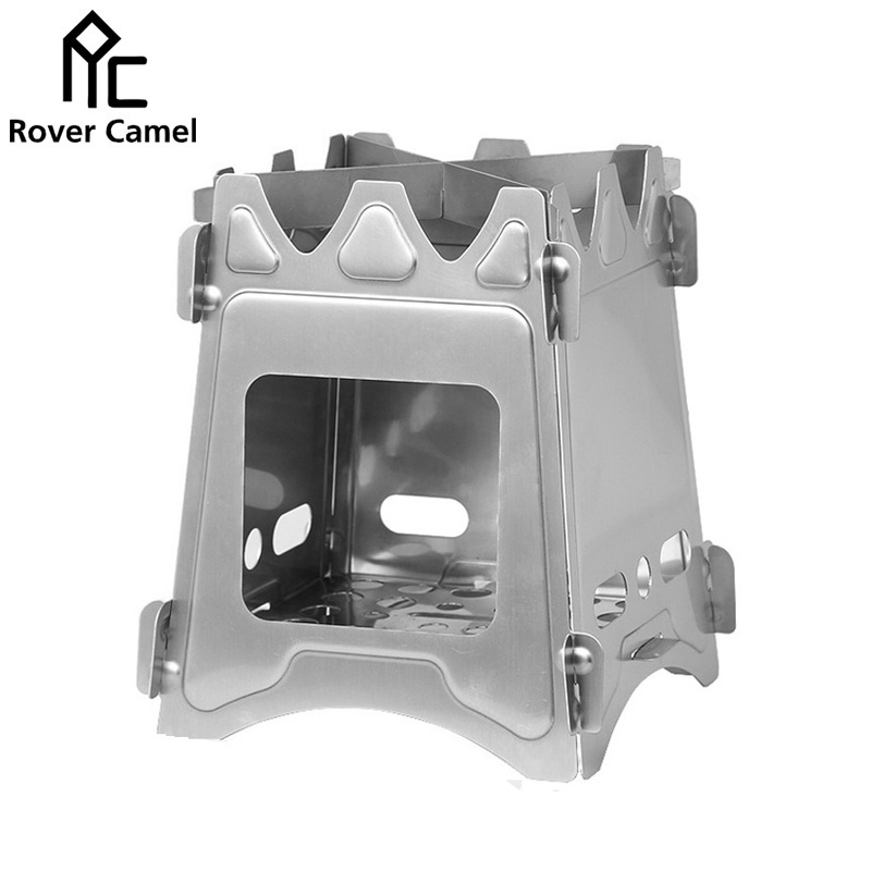 Rover Camel Stainless Steel Folding Wood Stove Outdoor Camping Portable Cooking Wood Stove WS009<br><br>Aliexpress