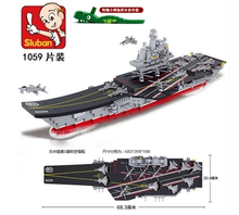 Sluban Model Toy Compatible with Lego B0399 1059pcs Military Liaoning Model Building Kits Toys Hobbies Building Model Blocks(China)