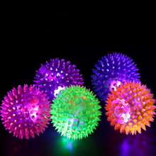 1 Pcs New Flashing Light Up High Bouncing Balls Novelty Sensory Hedgehog Ball High Quality Children Kids Toy(China)