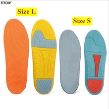 2017 Newest Unisex Soft Sports shoe Insoles 2 Color and 2 Size Sponge Running Insoles for Women/Men with Plus Size 35-45(China)