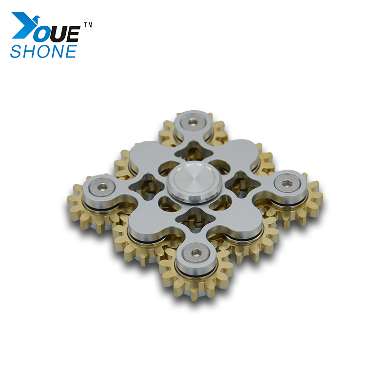 New Gears Hand Spinner Finger Spinner Plastic Alloy Bearings Fidget Spinner Anti Stress Spiral Desktop Anti Stress Finger Game