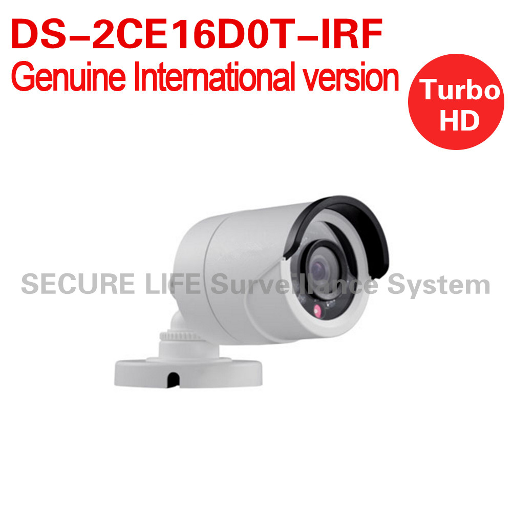 DS-2CE16D0T-IRF English version 2MP Bullet turbo HD TVI Camera Switchable TVI/AHD/CVI/CVBS up to 20m IR OSD menu IP66 up to coax<br>