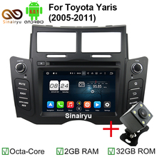 ROM 32GB Octa Core Android 6.0.1 Car PC DVD Player Fit Toyota Yaris 2005-2011 Stereo Radio GPS Navigation TV 4G WiFi