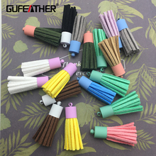GUFEATHER 0.9*3.5cm Metal loop Maccaron tassel/tassel/jewelry accessories/accessories parts/jewelry findings/hand made 4pcs/bag