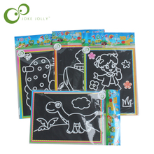 10 pcs 13x 9.8cm Scratch Art Paper Magic Painting Paper with Drawing Stick For Kids Toy Colorful Drawing Toys(China)