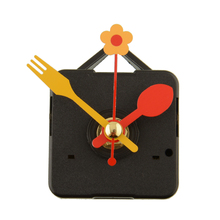 Cute Quartz Clock Movement Kit Spindle Mechanism Replacement Repair Parts With Flower Spoon Short Hands