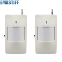 Free Shipping Wireless PIR Sensor Motion Detector 315/433Mhz for Home PTSN GSM Alarm System Security Accessories(China)
