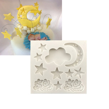 Cloud Stars Moon Shaped Silicone Pastry Tool Cake Decorating Mold Baking Tool Fondant Cake Tools