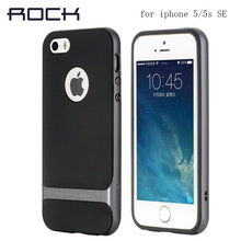 Original ROCK Case Anti-knock Back Cover Phone case Royce cross series carcasa For iphone 5 5s 5se case
