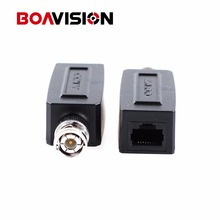 CCTV UTP/CAT5 BNC Male To RJ45 Converter Video Balun Transceiver/CCTV RJ45 video balun(China)