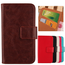LINGWUZHE Cell Phone Flip PU Leather Cover With Card Pocket Protection Skin Case For Prestigio MultiPhone Grace Q5 5506 Duo 5''