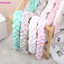 Buy 100/200cm Bumpers Newborn Baby Bed Bumper Infant Kids Bedding Pure Weaving Knot Room Decor Crib Protector Baby Pacification Toy for $11.87 in AliExpress store