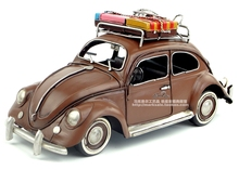 Retro iron ornaments crafts Decoration Beetle car classic car antique furnishings home/pub/cafe decoration or birthday gift