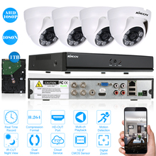 KKmoon 4CH AHD CCTV System 1080N HDMI Output Video Surveillance DVR Kit with 4PCS 1080P Home CCTV Security Camera System 1TB HDD(China)