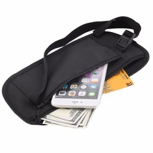 Men Casual Functional Waist Pack Travel Pouch Zippered Waist Compact Security Money Phone Waist Belt Bag for Male Fanny Bags