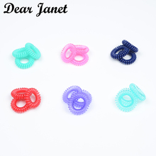 1box 3.5cm Fashion Cute Candy Color telephone line hair gum styling tools headwear Free shipping(China)