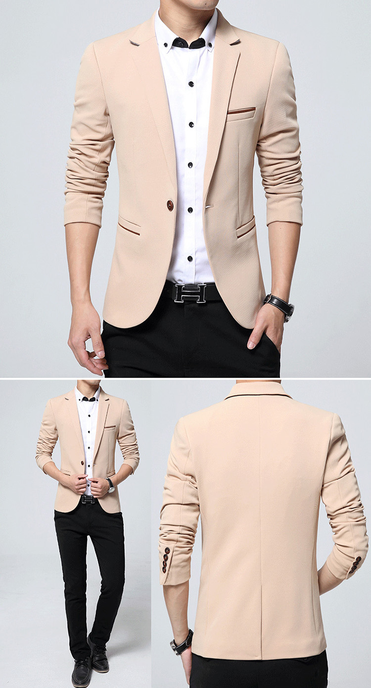 17 Autumn Fashion slim fit Mens blazer Burst models high quality Suit Jacket for Men free delivery Male blazers size 4XL 5XL 8