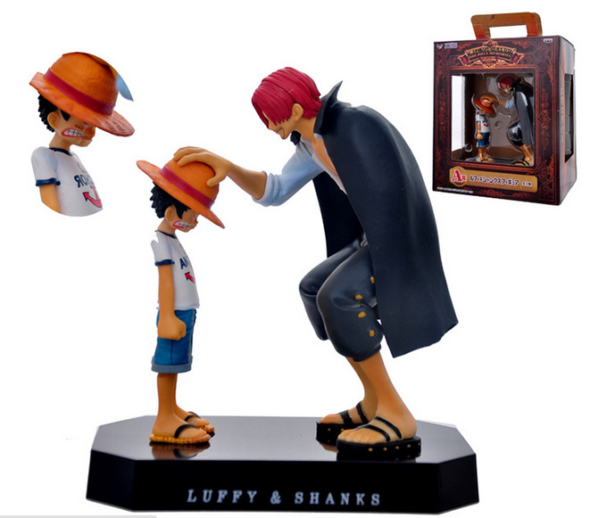 Anime One Piece Four Emperors Shanks Straw Hat Luffy PVC Action Figure Doll Child Luffy Collectible Model Toy Christmas Gift (4)