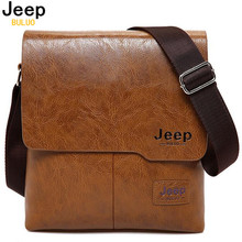 Men Tote Bags JEEP BULUO Famous Brand New Fashion Man Leather Messenger Bag Male Cross Body Shoulder Business Bags For Men 1505(China)