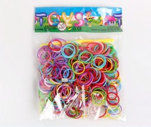 DIY Loom Rubber Bands Loom Bands Refills Magic Crazy Twistz Bandz (200 bands+ 10 S-Clips+1 Hook/Pack) 10Packs/lot
