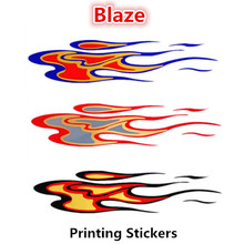 Blaze Car Stickers Fire Colorful Decals For Cars Motorcycle Auto Tuning Styling Cyter Waterproof 2 PCS/Set  58x13cm D5