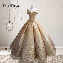 It's YiiYa Gold Silver Gradual Color Wedding Dresses Gown